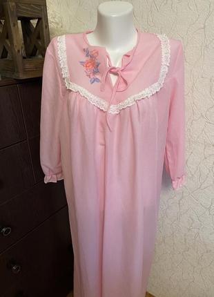 Пеньюар винтажная ночнушка 70 % хлопок