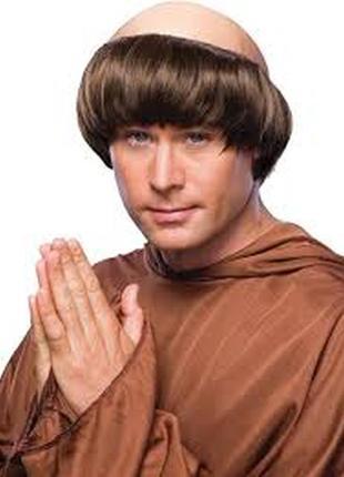 Парик маскарадный монах с лысиной