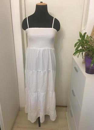 Белое платье из хлопка esmara