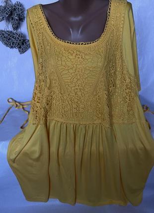 Шикарное желтое платье большого размера