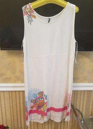 Натуральное вискозное платье