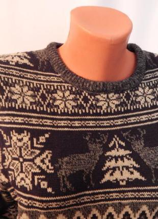 Новогодний свитер,,орнамент лес,,(размер 38)