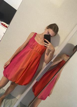 Красивое легкое платье сарафан 100% шелк