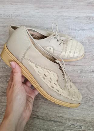 Броги туфлі шкіряні vera pelle туфли кожа