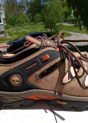 Удобные сандалии из нубуковой кожи timberland подошва vibram