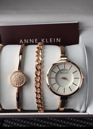 Брендовый набор anne klein часы и браслеты (сша) прекрасный и дорогой подарок!