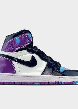 Кррссовки nike air jordan 1 purple white