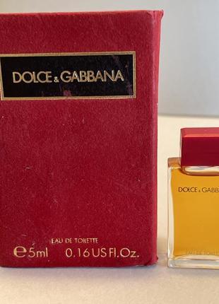 Dolce & gabbana 5 ml edp мініатюра2 фото