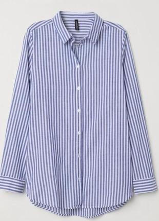 H&m котонова сорочка в смужку