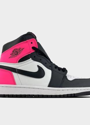 Кроссовки nike air jordan 1 retro black pink