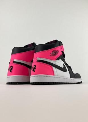 Кроссовки nike air jordan 1 retro black pink5 фото
