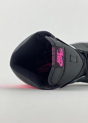 Кроссовки nike air jordan 1 retro black pink8 фото