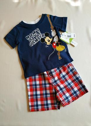 Літній костюм від disney baby, шорти та футболка для хлопчика.