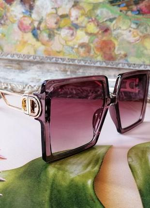 Модные женские солнцезащитные очки квадраты цвета марсала 2021