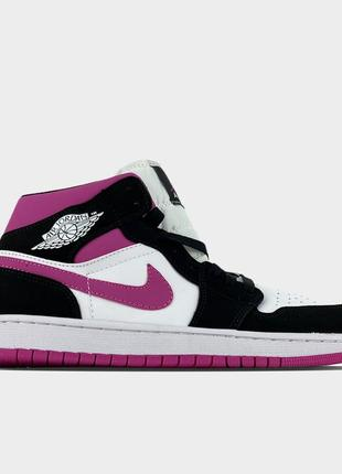 Кроссовки nike air jordan 1 black pink