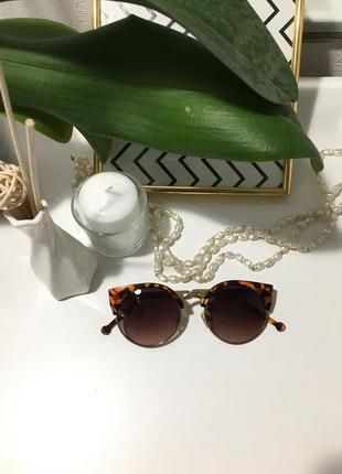 Модные стильные трендовые винтажные очки солнцезащитные бершка  bershka