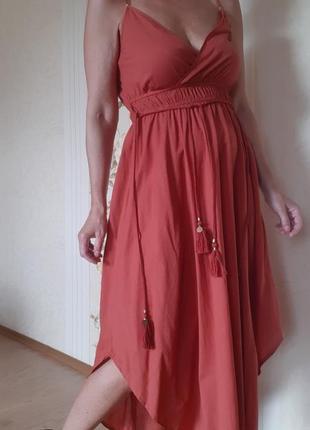 Хлопковый сарафан платье миди лт monsddn
