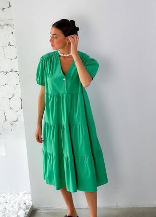 Платье свободного кроя оверсайз женское миди