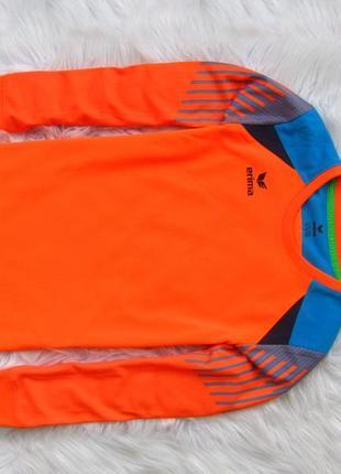 Спортивная футбольная кофта свитшот лонгслив бомбер мастерка на локтях мягкие ставки erima2 фото