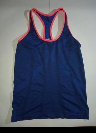 Sale майка спортивная компрессионная бег фитнес борцовка синяя