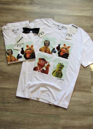 Футболка oversize muppets zara новая коллекция размер м