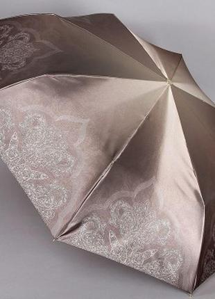Зонт женский компактный 23 см полный автомат trust светлый коричневый