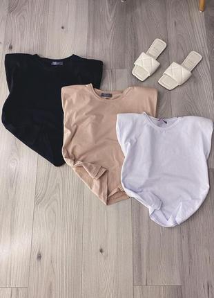Новая базовая блуза с подпечниками