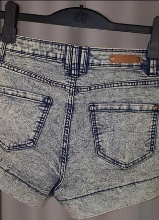Шорты варенки джинсовые xs - s