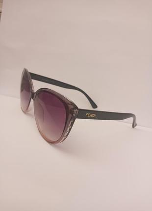Стильные итальянские очки кошки очки лисички со стразами оправа градиент эксклюзив