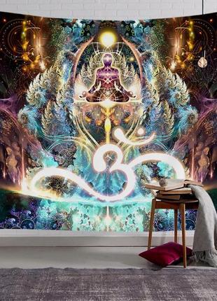 Картина текстильная гобелен настенный йога ом