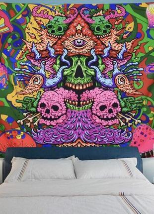 Картина текстильная гобелен настенный дух мухомора