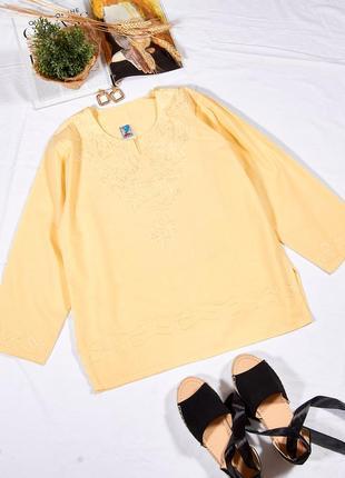 Желтая рубашка с вышивкой, женская рубашка летняя, летняя блузка, блуза