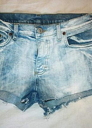 """Шорты джинсовые """"вареные"""", р.s-м"""