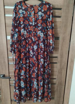 Красивое длинное платье в цветах  george