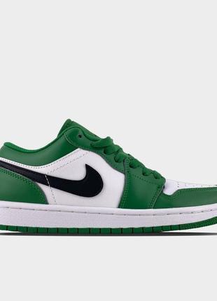 Кроссовки nike air jordan 1 low green white