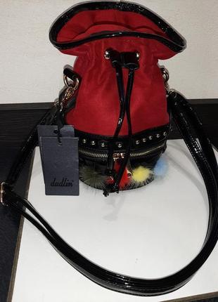 Итальянская красная сумка мешок