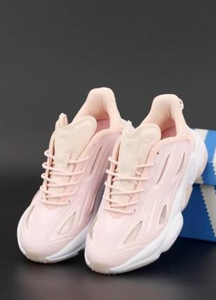 Кроссовки женские adidas ozweego celox pink/white
