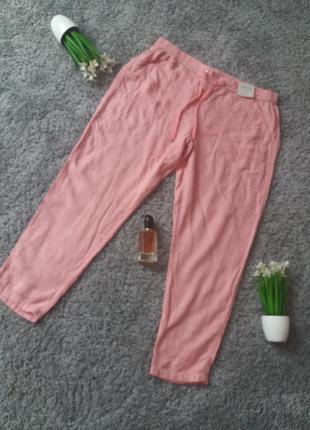 Надзвичайно приємні до тіла штани з льону і віскози 54р🔥знижка на літні речі🔥