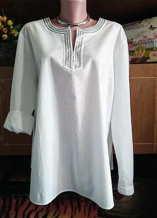 Хлопковая блузка, рубашка. распродажа. скидки. вещи разных размеров