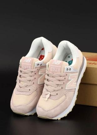 Женские кроссовки new balance 574 classic pink