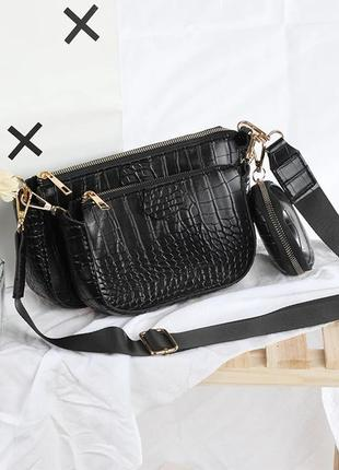 Новая черная сумка из эко кожи george