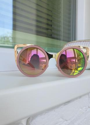 Очки солнцезащитные от солнца розовые хамелеон