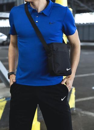 Комплект летний мужской футболка nike шорты + барсетка в подарок