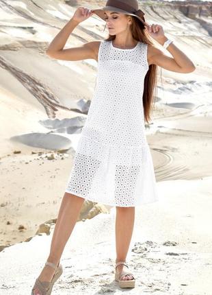 Белоснежное летнее платье
