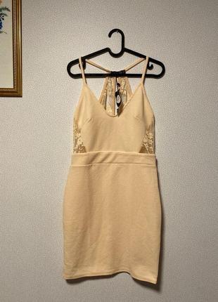 Нежно-розовое вечернее платье с кружевами / большая распродажа!