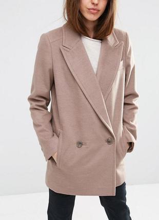 Классическое пальто-бушлат asos petite