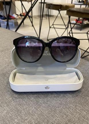 Солнцезащитные очки swarovski, сваровски, оригинал, полный комплект