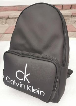 Рюкзак ранец женский рюкзак прогулочный черного цвета из эко кожи