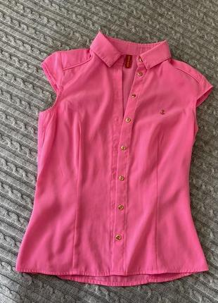 Летняя яркая блузка с коротким рукавом