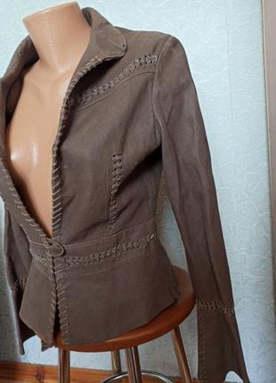 Пиджак куртка кожа замш шикарная